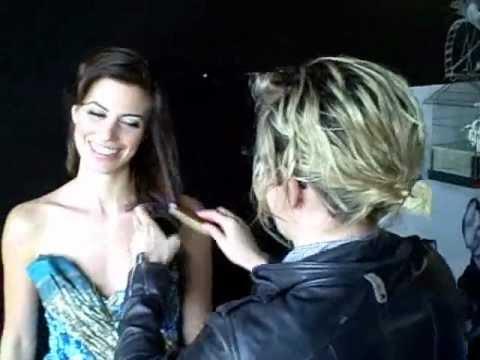 Meghan Ory gets her hair did