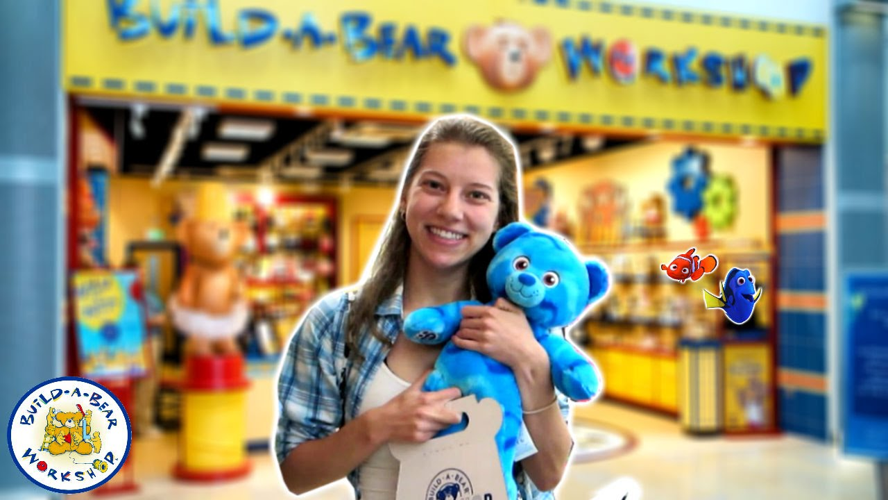 Let 39 s build a bear finding dory ocean bear youtube for Finding a builder