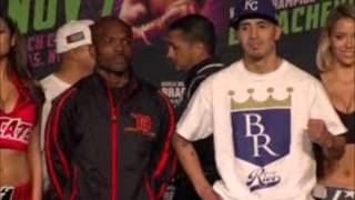 TIMOTHY BRADLEY VS BRANDON RIOS WEIGH IN: BRANDON OVERWEIGHT! LOOKS LIKE SHIT! GARCIA IS OVERATED!
