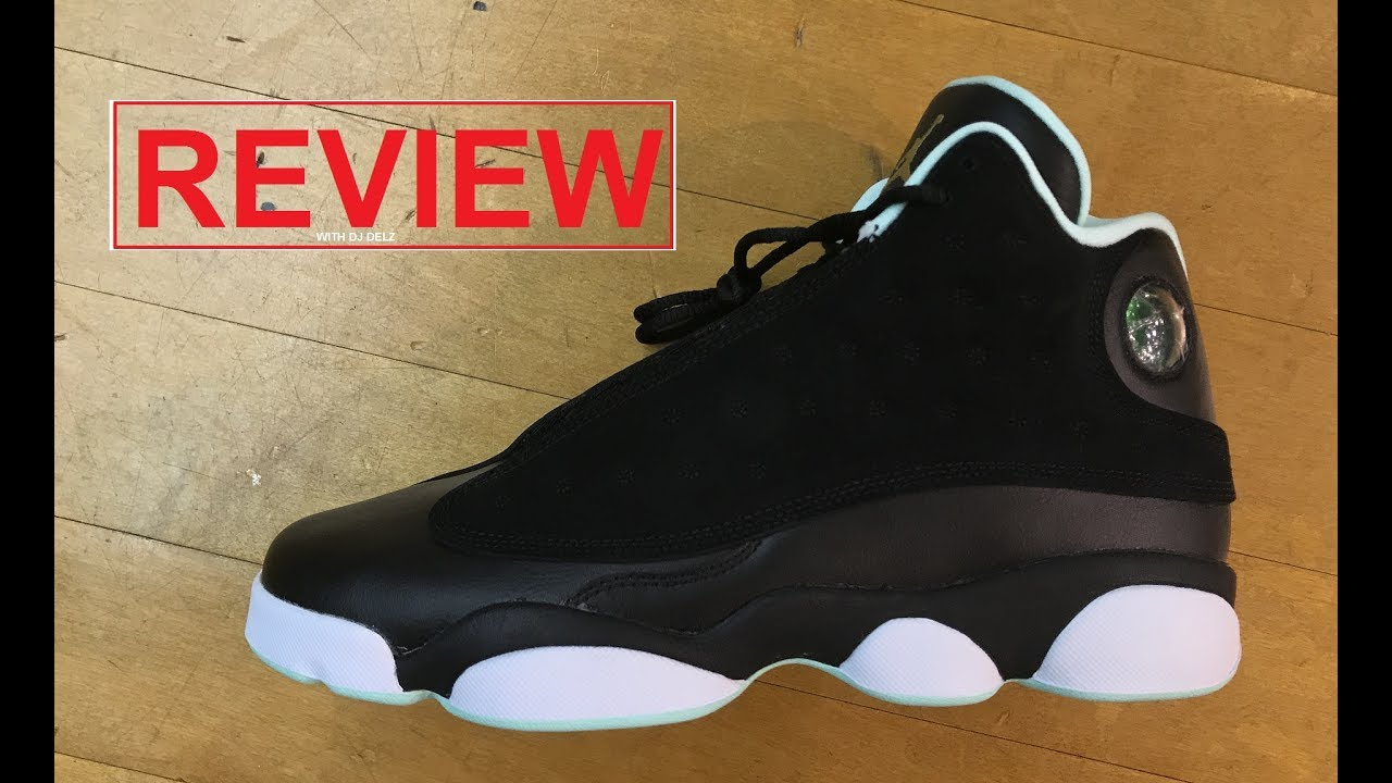 sports shoes 1fa7c 23e1b Air Jordan 13 Black Mint Foam Retro GS Sneaker Detailed Review