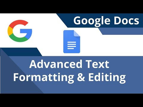 Advanced Google Docs Text And Document  Formatting
