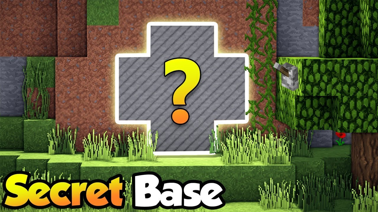 Minecraft best secret base door tutorial 3 how to for Make a house online