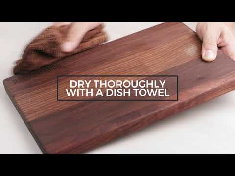 How to clean and take care of your wood cutting board