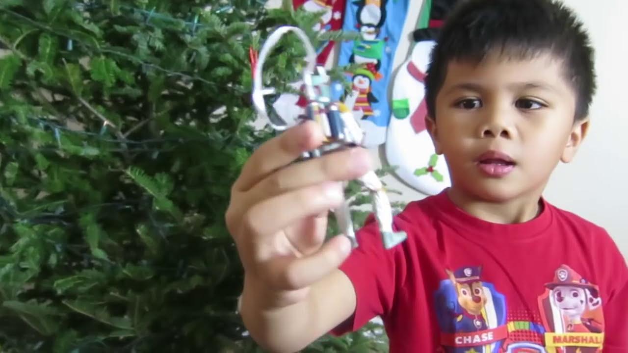 Thomas The Train Christmas Tree.Kid Decorating Christmas Tree Thomas Friends Train Around The Tree