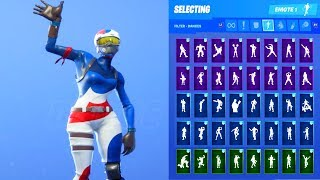 MOGUL MASTER KOR SKIN SHOWCASE WITH ALL FORTNITE DANCES & EMOTES