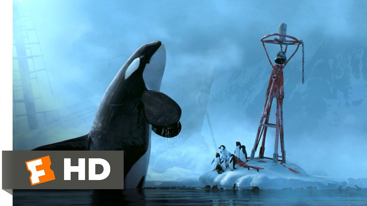 happy feet (7/10) movie clip - killer whale attack (2006) hd - youtube