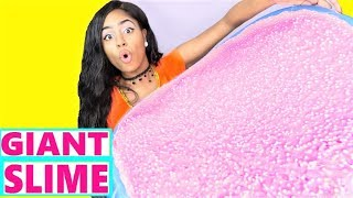 Crunchy Slime GIANT SIZE How To DIY Slime Challenge Recipe NO Borax