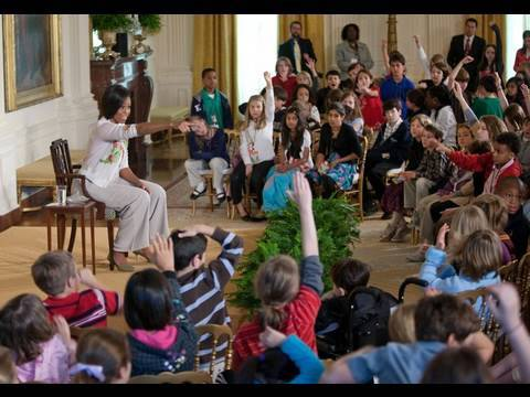 First Lady Michelle Obama Q&A with Children