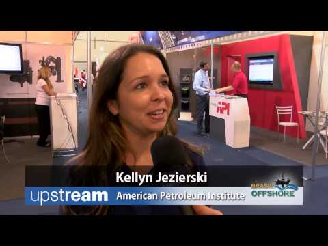 Kellyn Jezierski from the API - Brasil Offshore 2013