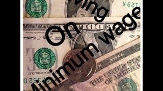 living on minimum wage