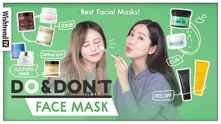 Best Face Mask for your skin type!  Scrub, Clay Mask, Sleeping Mask, Peel off, Wash off