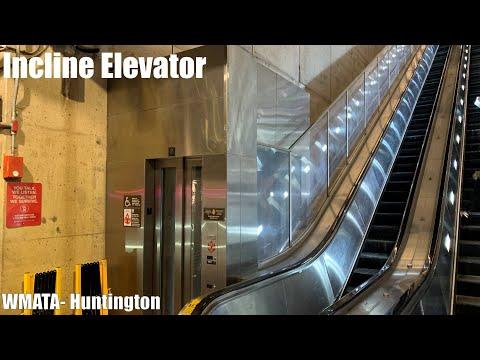Awesome Incline Elevator @ Huntington WMATA Station - Huntington, VA