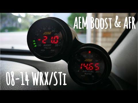 ATI Dual Gauge Pod Install 08-14 WRX/STi (AEM Wideband & Boost)
