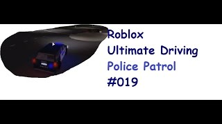 Roblox: Ultimate Driving | Police Patrol #019 | Why does everyone have Bounty? | [Huski/English]