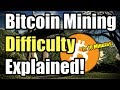 Bitcoin mining difficulty example. THIS IS CRAZY!!