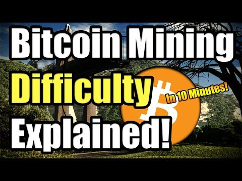 BITCOIN MINING DIFFICULTY EXPLAINED IN 10 MINUTES!