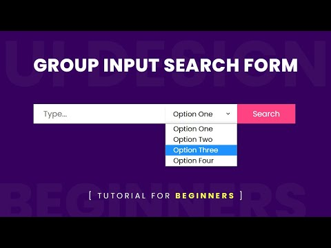 Group Input Search Form Design Using Html & CSS | Form Input Group