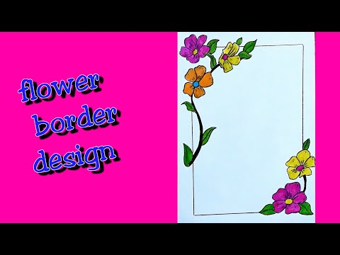How To Make Easy Page Border Page Border Easy Page Border Design For Assignment Project School Youtube,Address Label Designs