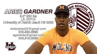 Aries Gardner   Ed Santa Baseball Showcase 2017