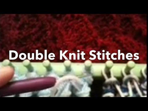 Loom Knit Double Knit Stitches Side By Side Rib Twisted Knit
