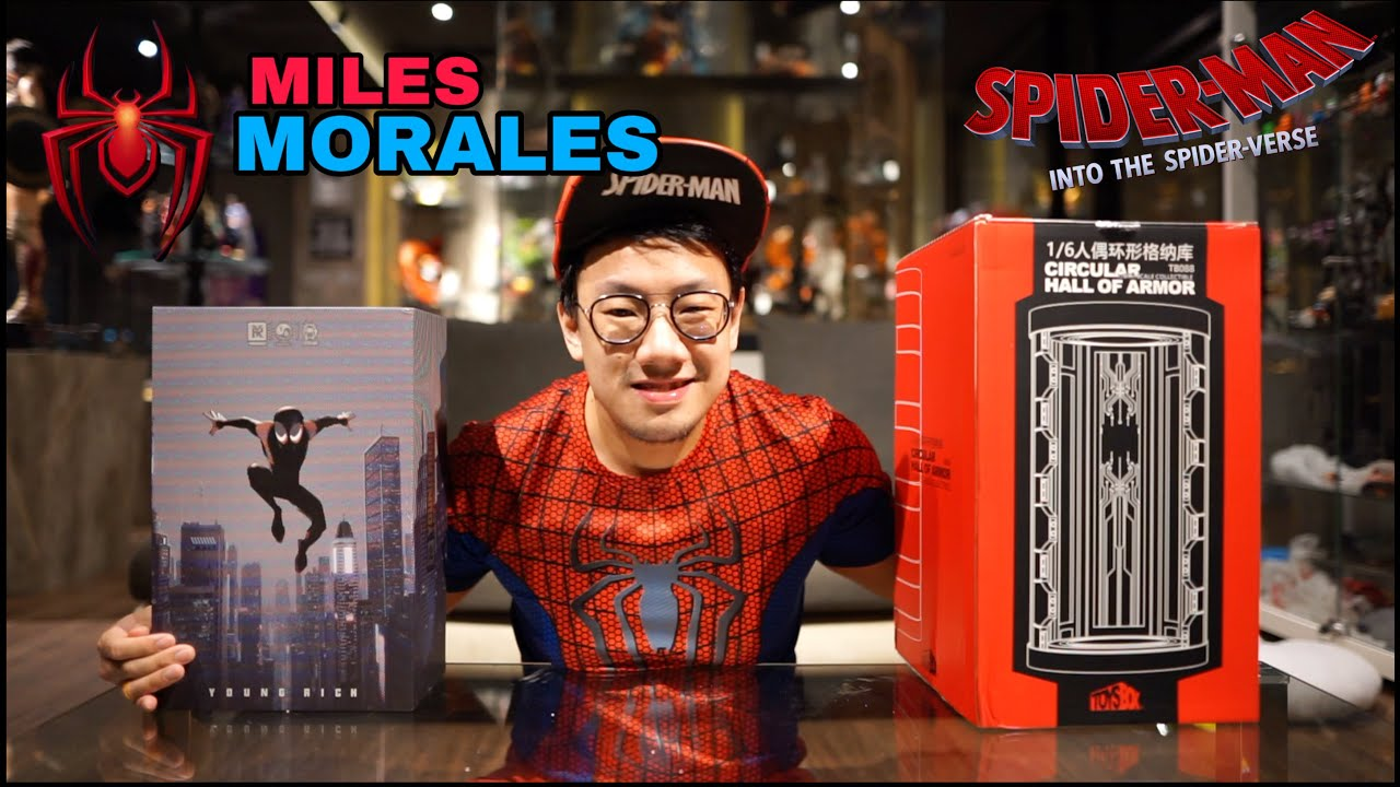UNBOXING ACTION FIGURE SPIDERMAN MILES MORALES SET WITH HALL OF ARMOR by YOUNG RICH! KOMBO HAKIKI!!!