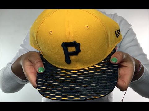 48c3182866e Pirates  LEATHER-RIP SNAPBACK  Gold-Black Hat by New Era - YouTube