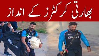 Indian cricketers style in Dubai stadium