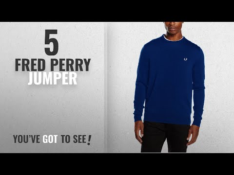 Top 10 Fred Perry Jumper [2018]: Fred Perry Men's FP Classic Crew Neck Sweater Jumper