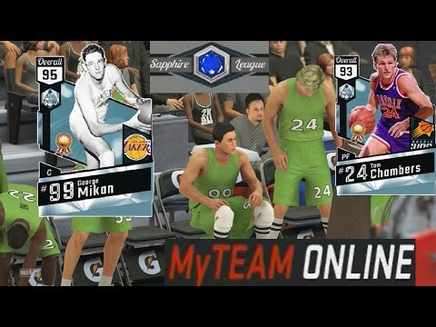 NBA 2K17 MyTeam Online vs. Diamond George Mikan, Tom Chambers, & Adrian Dantley