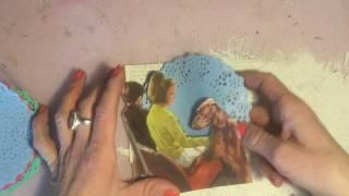 Vintage junk journal kit - process video tutorial