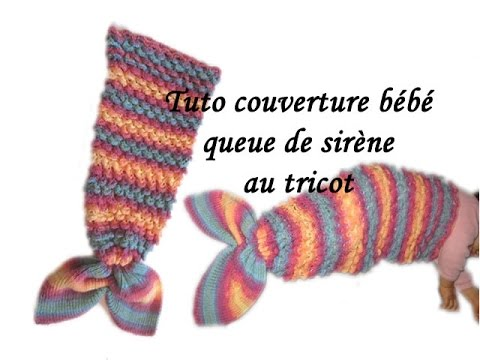 patron tricot couverture queue de sirene