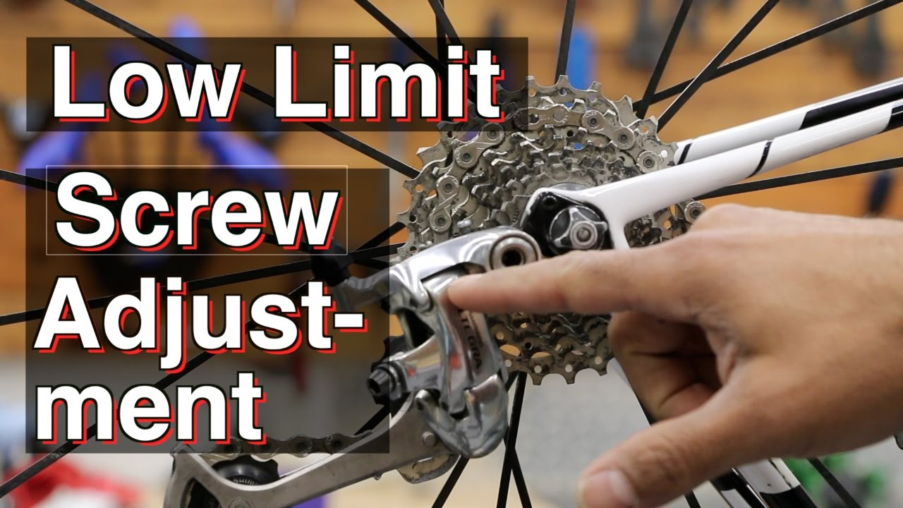 How To Adjust low Limit Screw, rear Derailleur