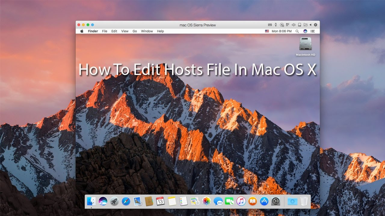 how to change the hosts file on a mac