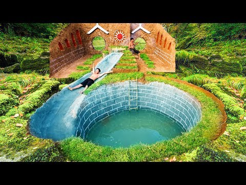 How To Build The Most Amazing Swimming Pool Water Slide Around Secret Underground House