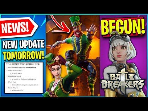 LEAKED Male St Patricks Skin! NEW Update Tomorrow! BattleBreakers! $10 Coupon! (Fortnite Chapter 2)