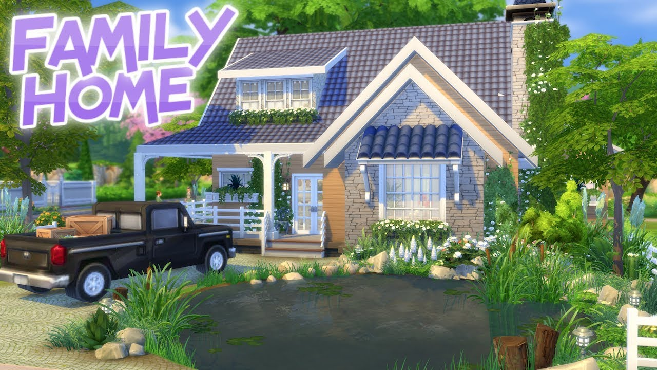 cute country home the sims 4 speed build little home no cc