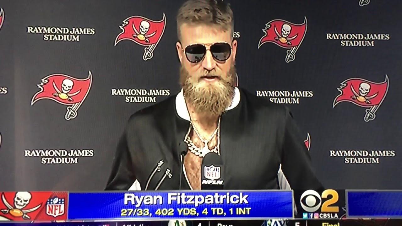 Tampa Bay buccaneers Ryan Fitzpatrick Post game (Hilarious) - YouTube 5efde8290