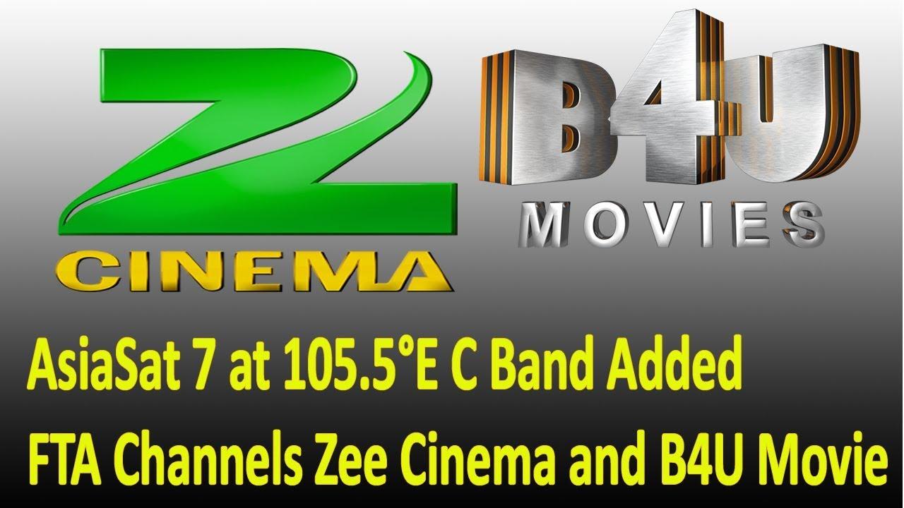 Zee Cinema And B4U Movie FTA on AsiaSat 7 at 105 5°E C Band