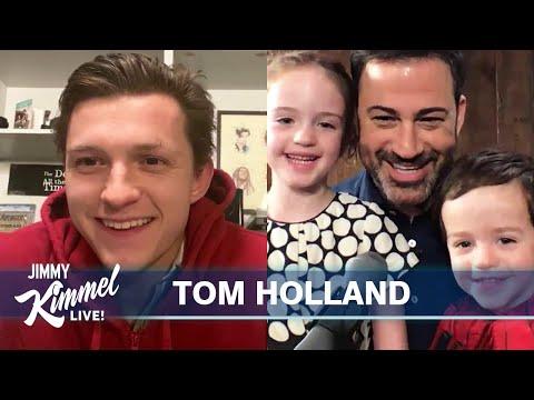 Tom Holland Surprises Billy Kimmel on 3rd Birthday