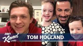 Tom Holland Surprises Billy Kimmel on 3rd Birthday