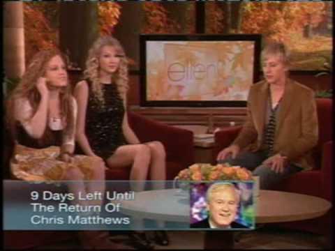 Taylor Swift on Ellen (Part 2)