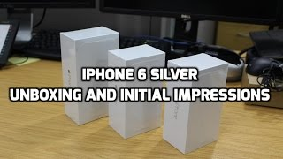 iPhone 6 Silver Unboxing, Hands-on, Impressions 16GB