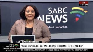SAMWU demands an 18% salary increase