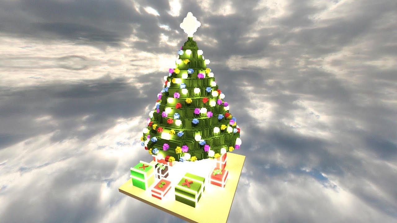 Minecraft Giant Christmas Tree