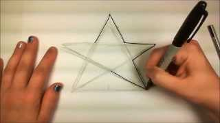 Learn How to Draw An Easy Star -- iCanHazDraw!