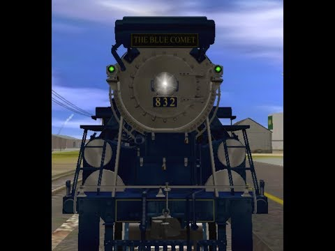 Trainz simulator # 70 the blue comet races to the beat |