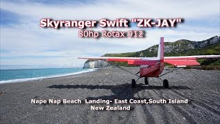 Skyranger Swift Beach Landing - East Coast New Zealand