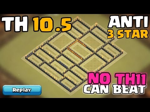 Town Hall 10.5 War Base | Anti Air | TH10.5 (TH11 Extra Walls) Defense/Push Base | Clash Of Clans
