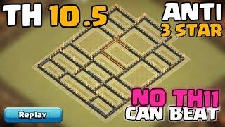 Town Hall 10.5 War Base   Anti Air   TH10.5 (TH11 Extra Walls) Defense/Push Base   Clash Of Clans