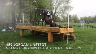 Slow-motion jump at Rolex Kentucky